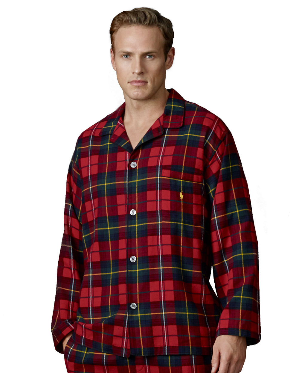 810fb649 Polo Ralph Lauren Longsleeved Plaid Flannel Pajama Top in Red for ...