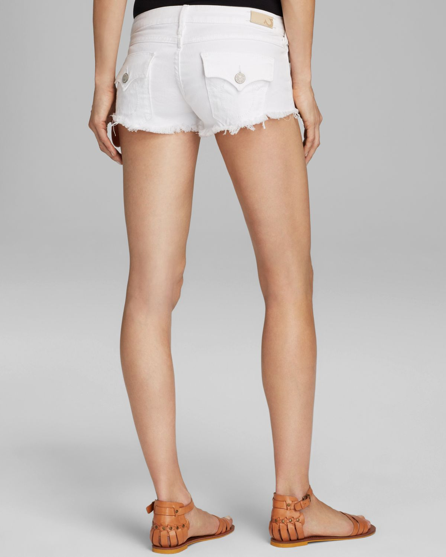 True religion Joey Cutoff Shorts In Optic White in White | Lyst