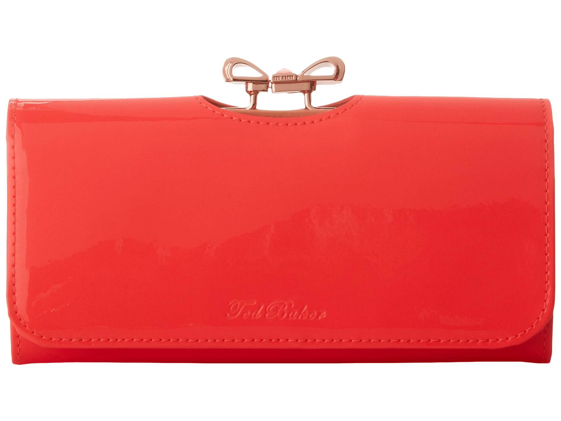 37f9e2d1a Lyst - Ted Baker Lindar Crystal Bow Bobble Matinee Wallet in Red