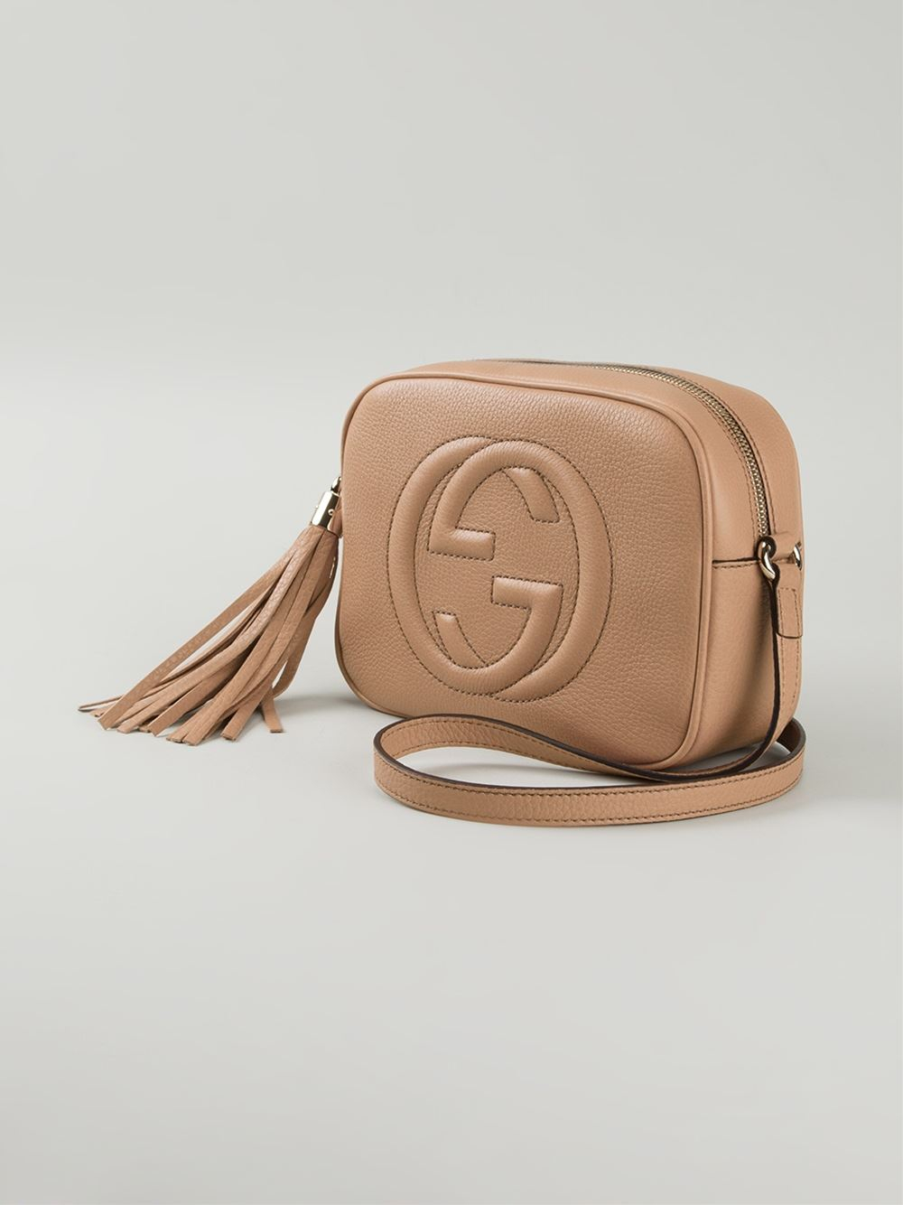 so cheap 100% authenticated order online Gucci Soho Calf-Leather Cross-Body Bag in Natural - Lyst
