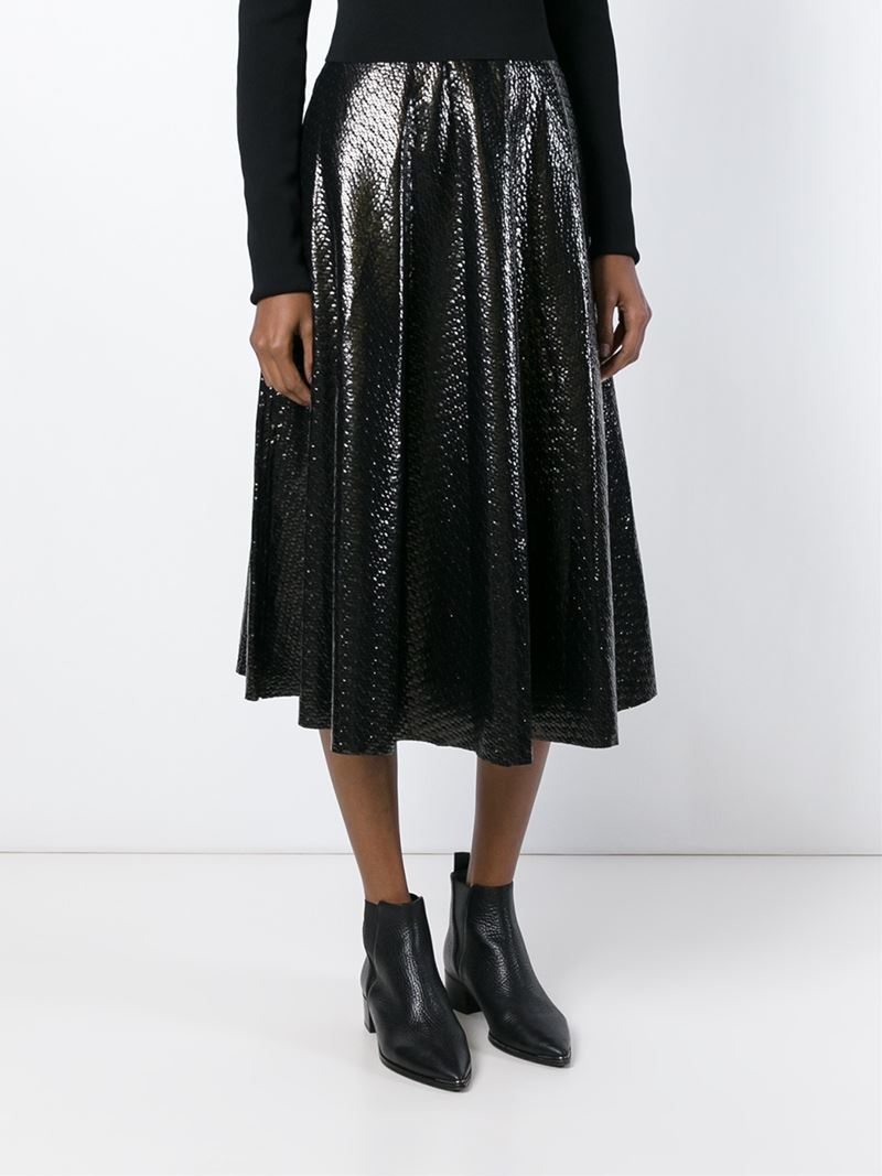 Golden goose deluxe brand Midi Circle Skirt in Black | Lyst