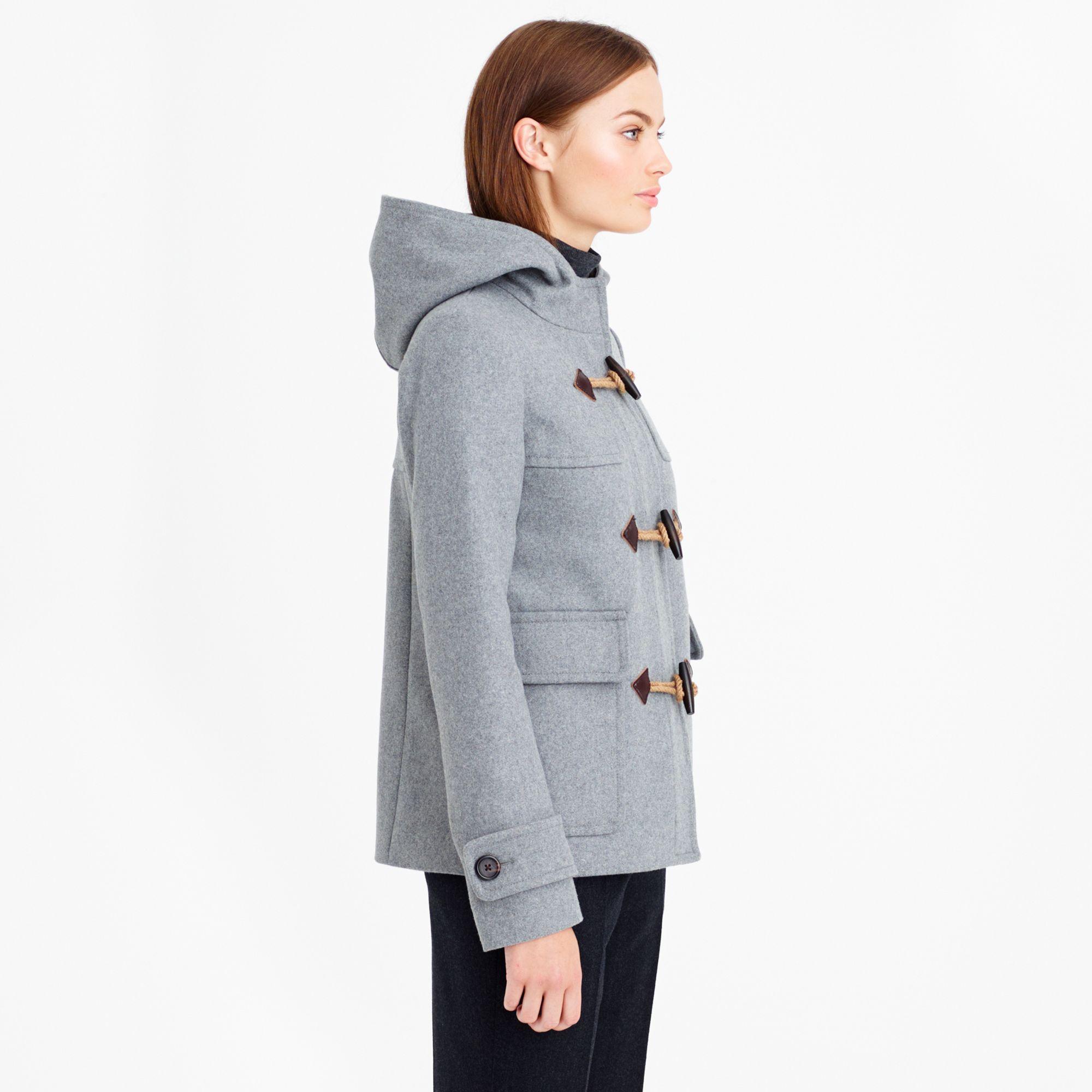 J.crew Classic Duffle Coat in Gray | Lyst