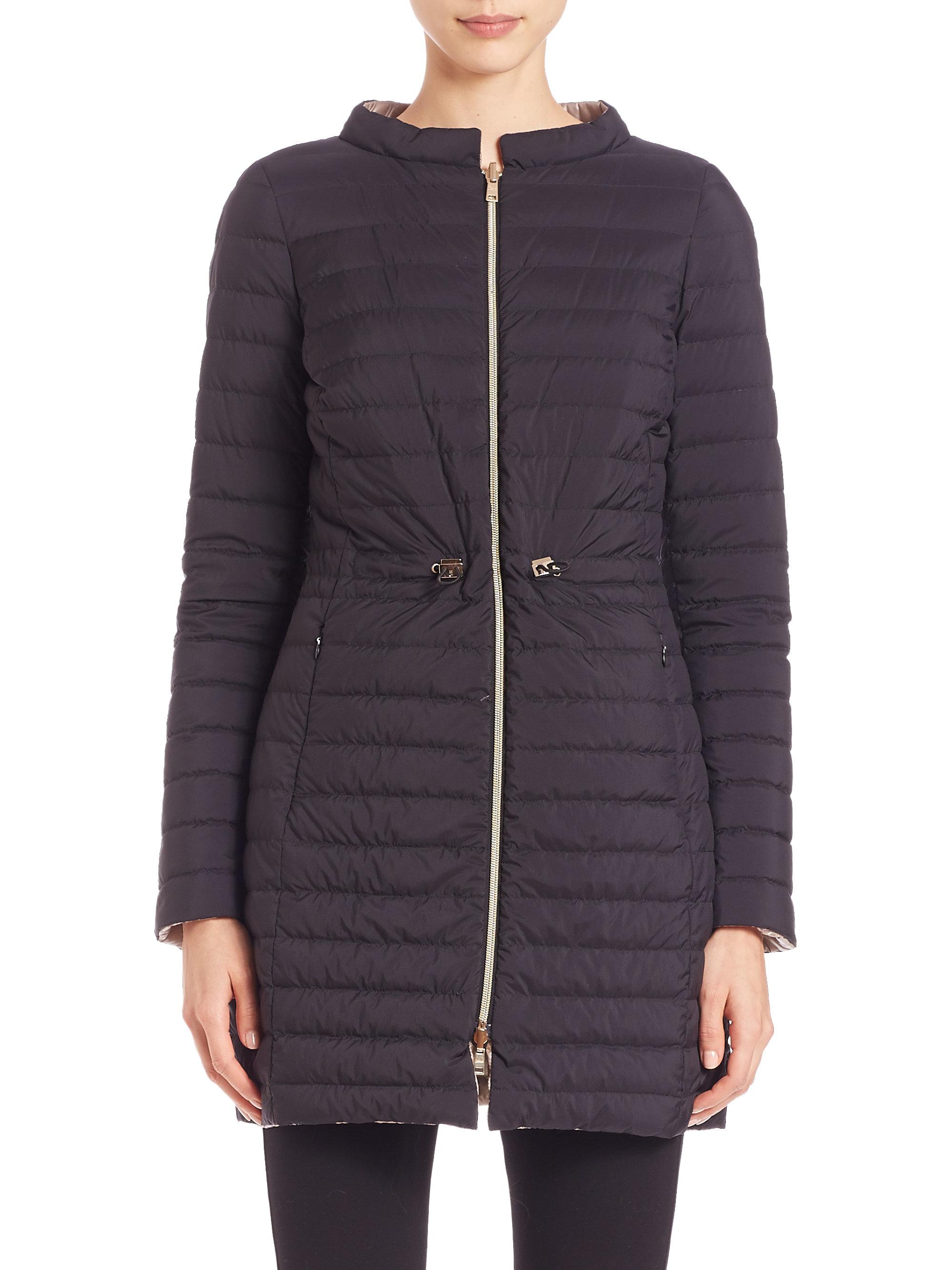 Herno Reversible Down Jacket in Black | Lyst