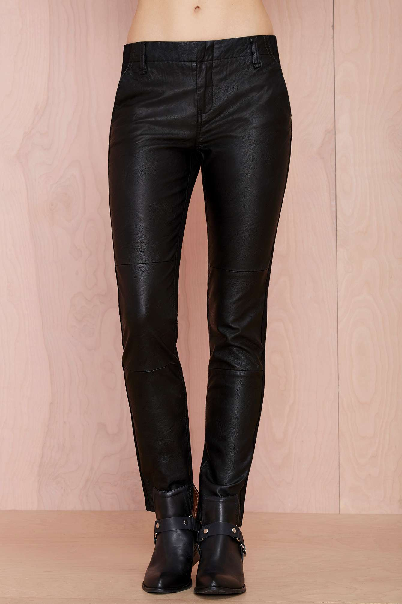 lyst  nasty gal blank nyc slap happy vegan leather pants