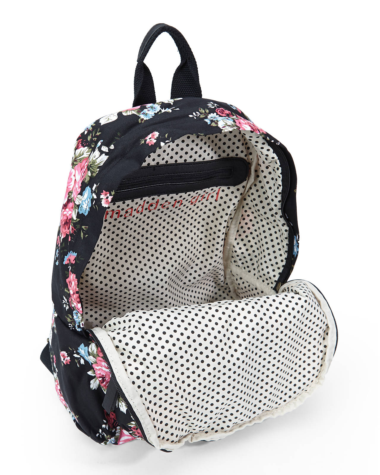 Madden girl Black & Rose Floral Backpack | Lyst