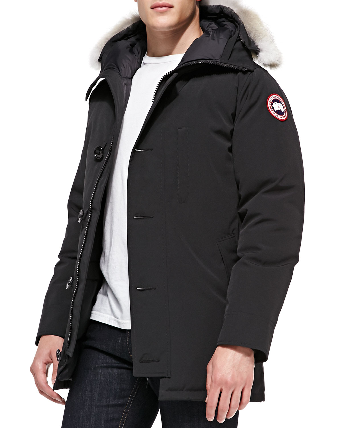 Canada Goose' Chateau Parka with Fur Hood - Graphite