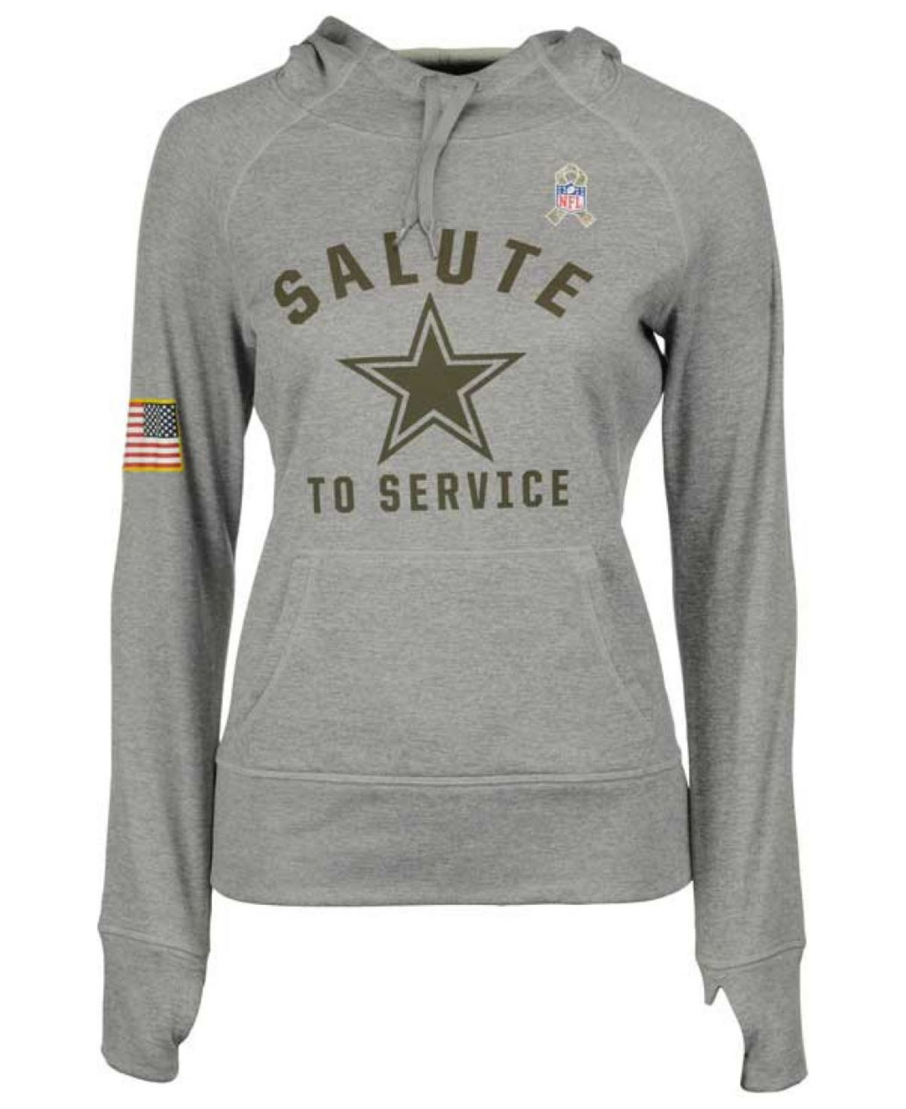 6bac2376e Lyst - Nike Women s Dallas Cowboys Salute To Service Hoodie in Gray