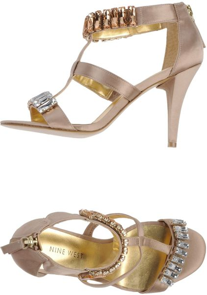Nine West Sandals In Gold Beige Lyst