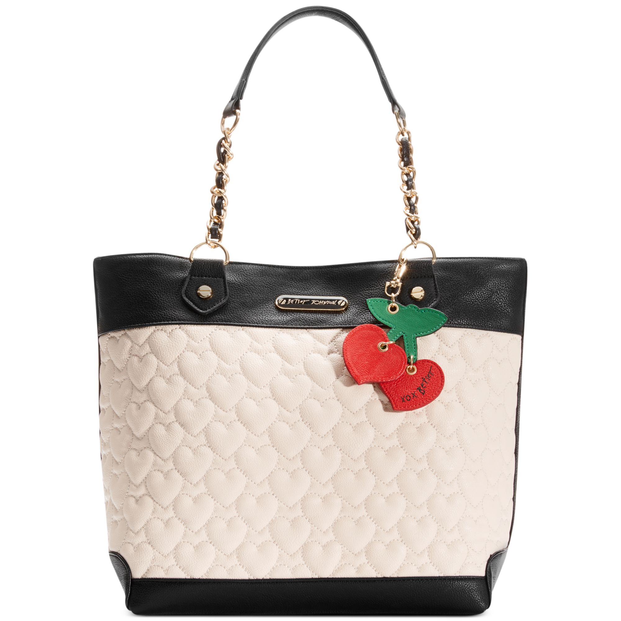 Betsey Johnson Macys Exclusive Tote In Black Lyst