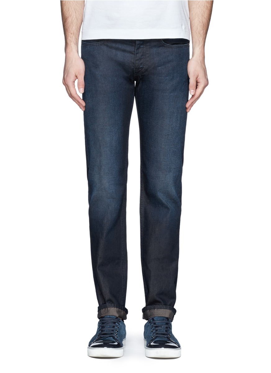 acne studios straight leg cotton jeans in blue for men lyst. Black Bedroom Furniture Sets. Home Design Ideas