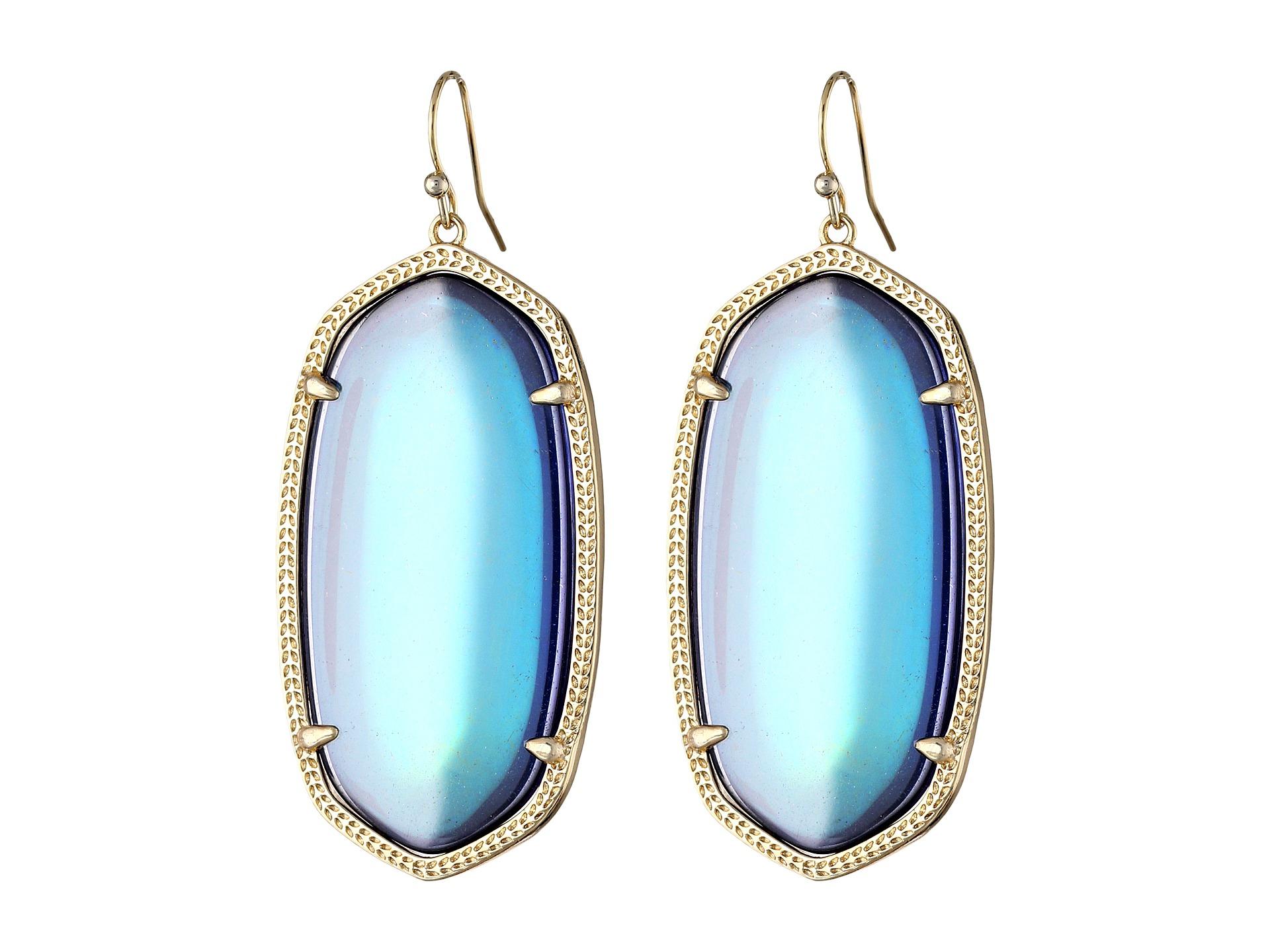 Lyst Kendra Scott Danielle Earrings Mystic Iridescent in Blue