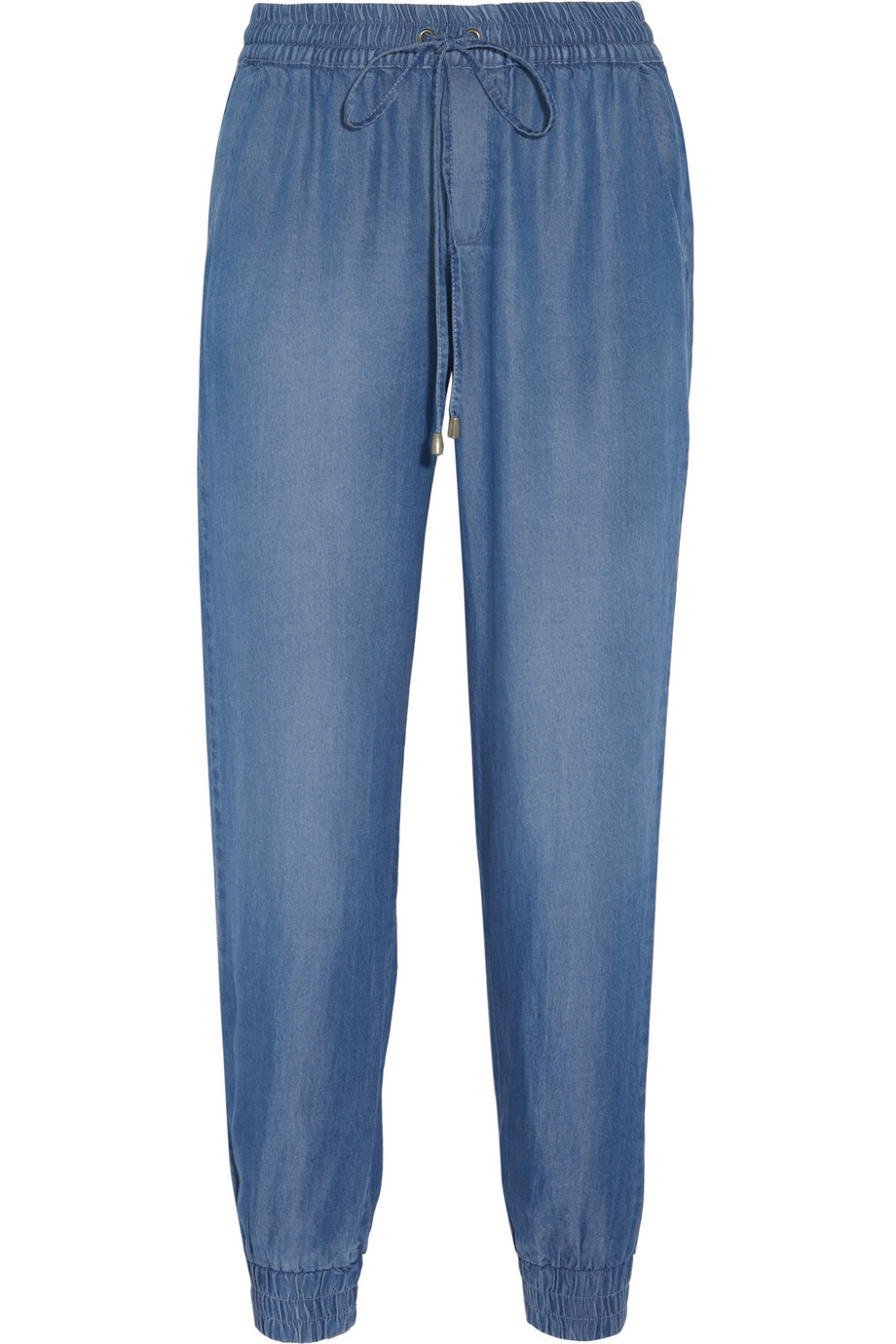Lyst splendid indigo dye chambray track pants in blue for Chambray jeans