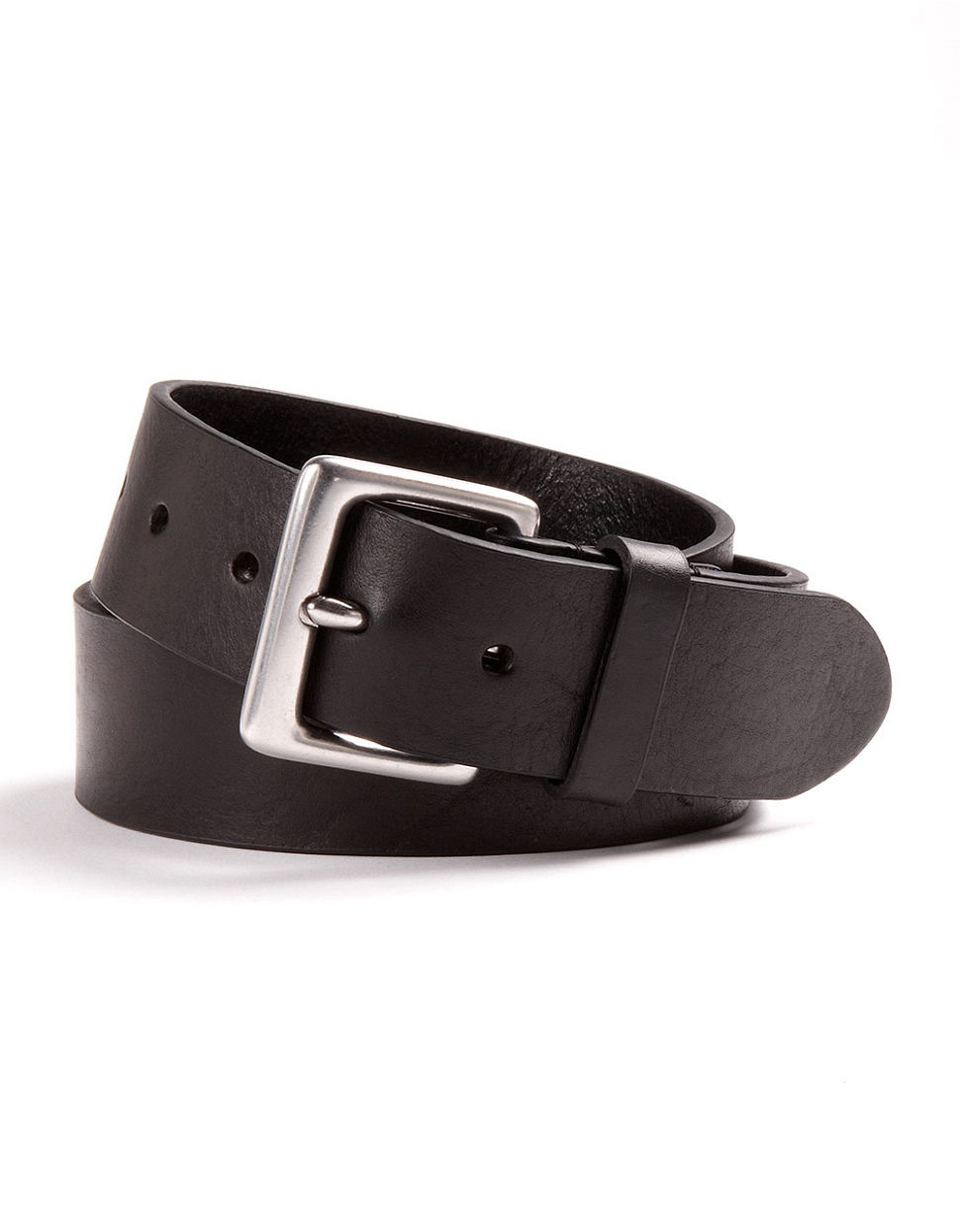 by ralph leather dress belt in black for