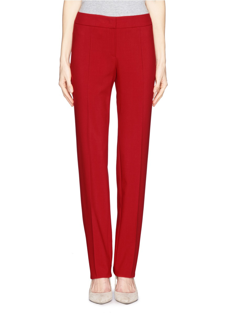 Armani Straight Leg Pants In Red Lyst