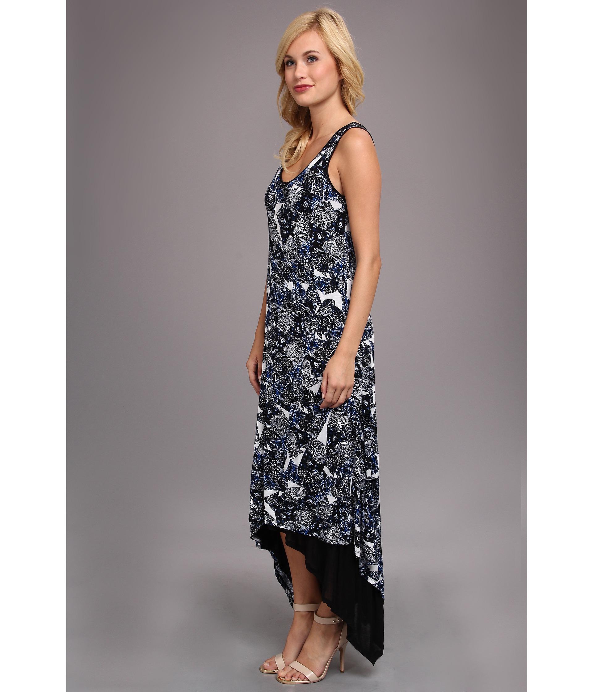 Kensie Batik Dress In Blue (Blue Voyage)