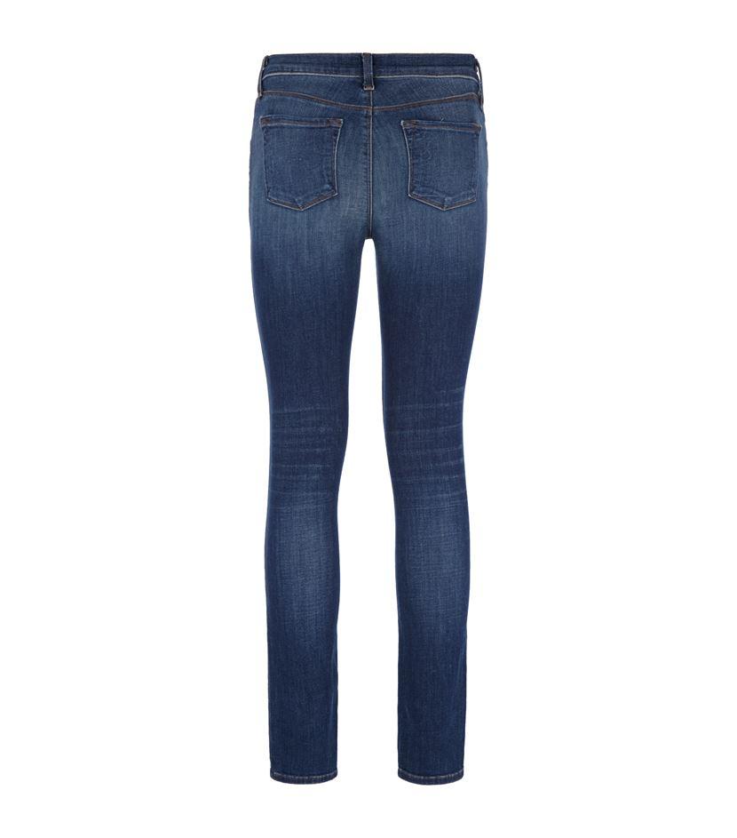 j brand mid rise skinny jeans in blue lyst. Black Bedroom Furniture Sets. Home Design Ideas