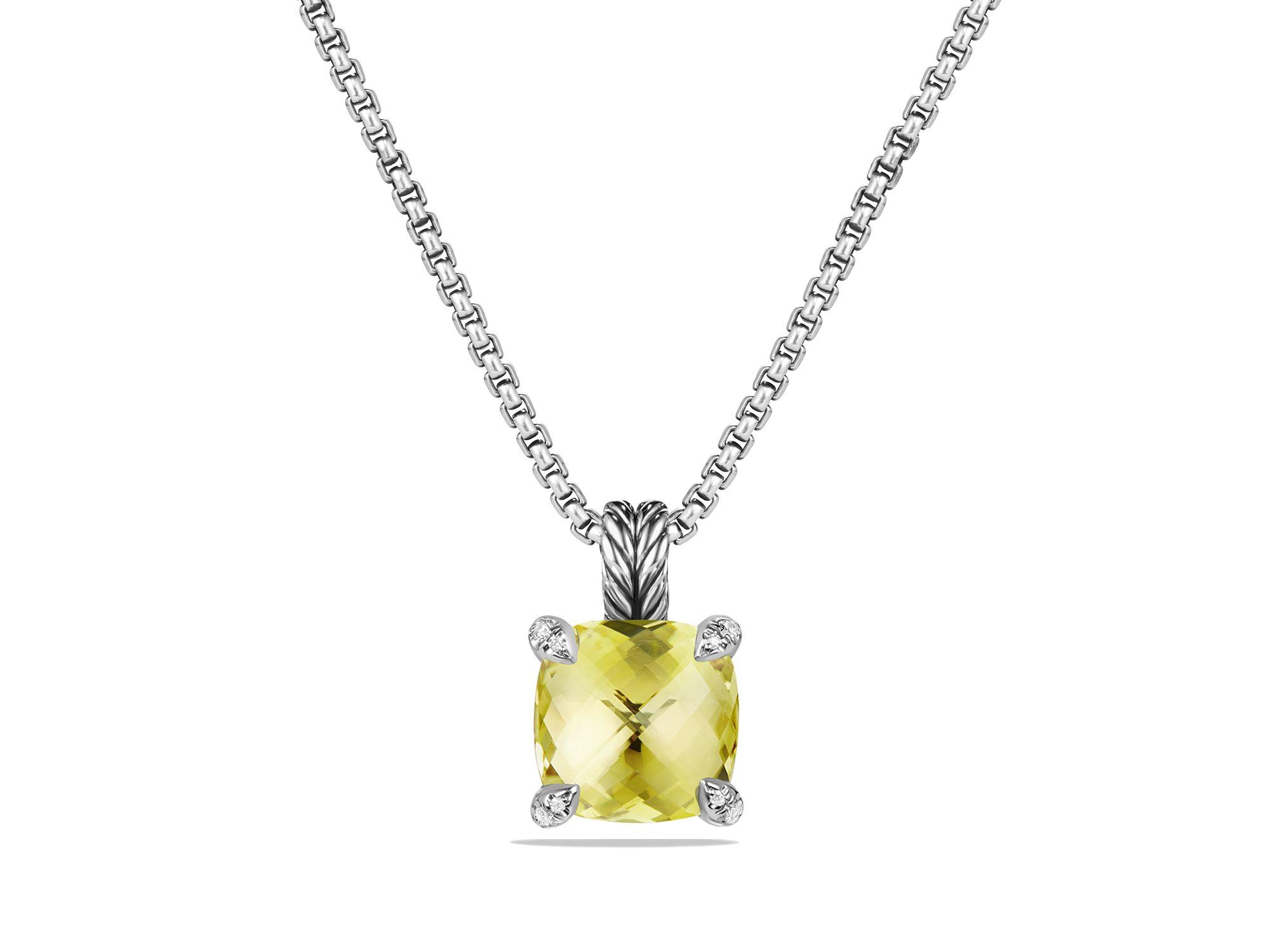 david yurman ch226telaine pendant necklace with lemon