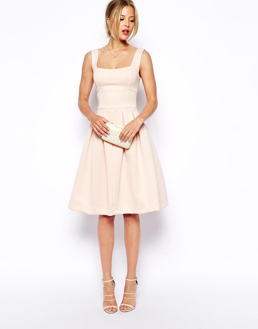 Asos Debutante Midi Dress in Pink | Lyst
