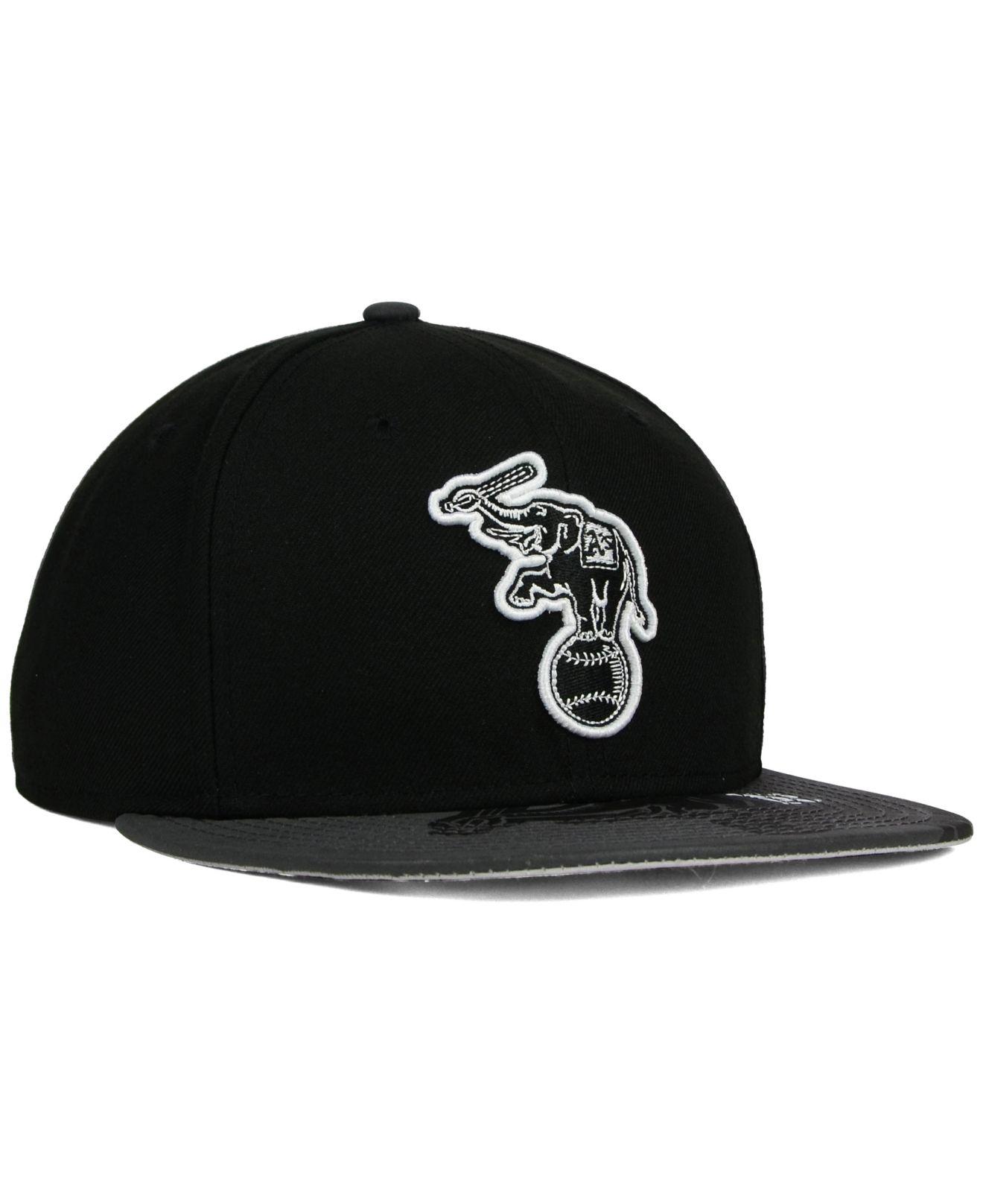 promo code 82a4e 014f8 ... black for men a3afe 62753  spain lyst ktz oakland athletics foil pop  redux 9fifty snapback cap in 1b522 21f08