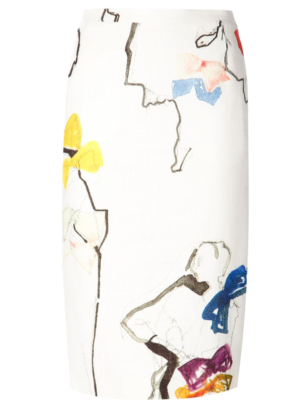 N 176 21 Bow Print Skirt In White Lyst