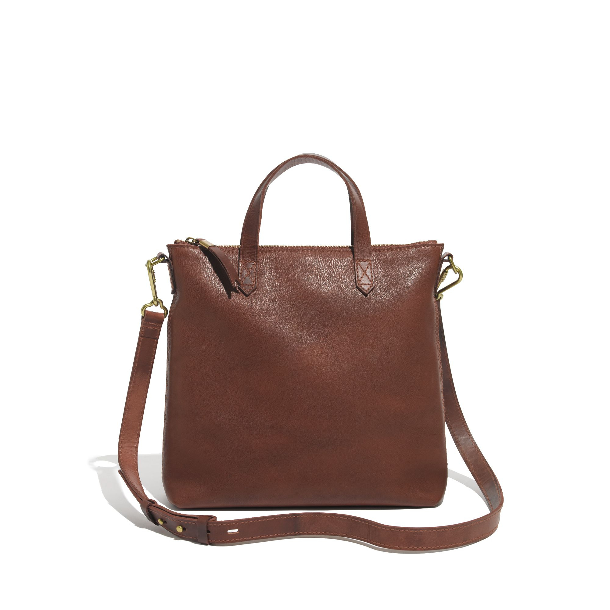 madewell the mini transport crossbody in brown pecan lyst