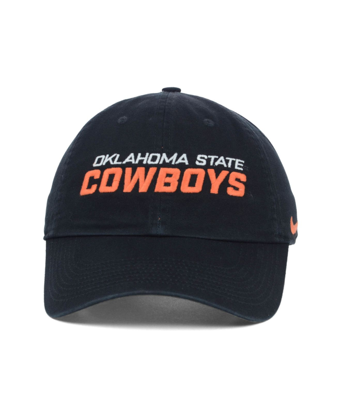 buy online e0c55 b0f4a ... ncaa snapback hat etsy e3a48 9e6dd  inexpensive lyst nike oklahoma state  cowboys heritage 86 campus cap in black d9bd6 c634a