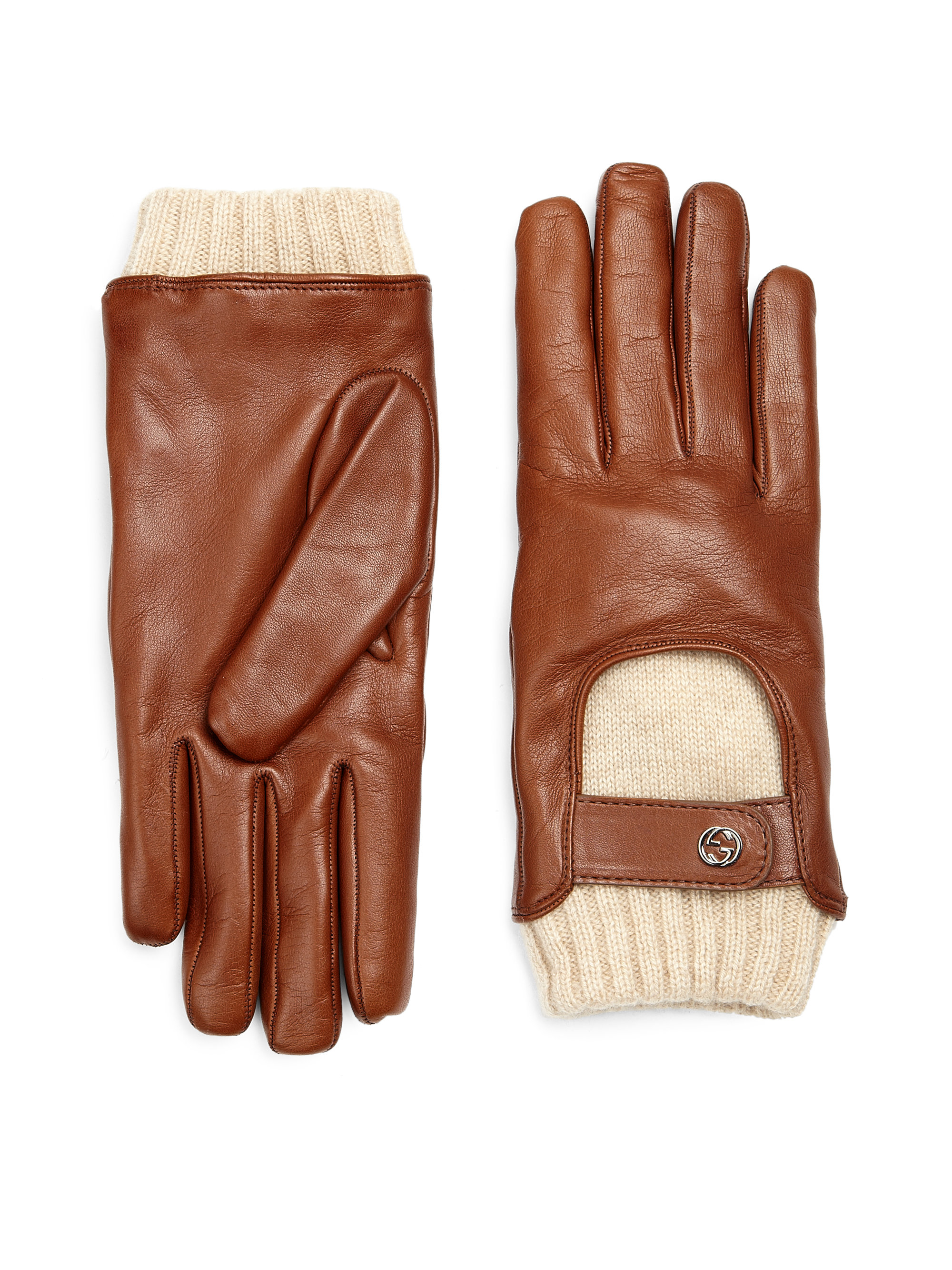 Tiger leather driving gloves -