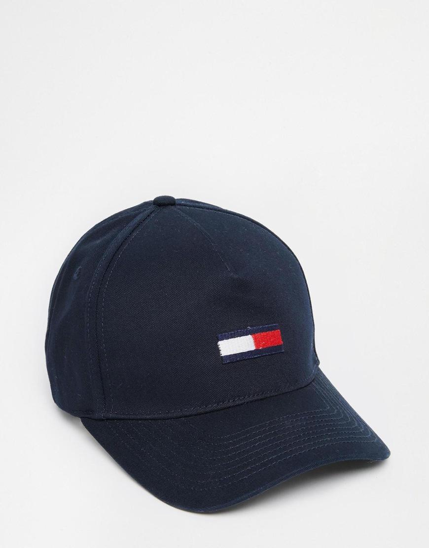 Tommy Hilfiger Flag Baseball Cap In Blue For Men Lyst