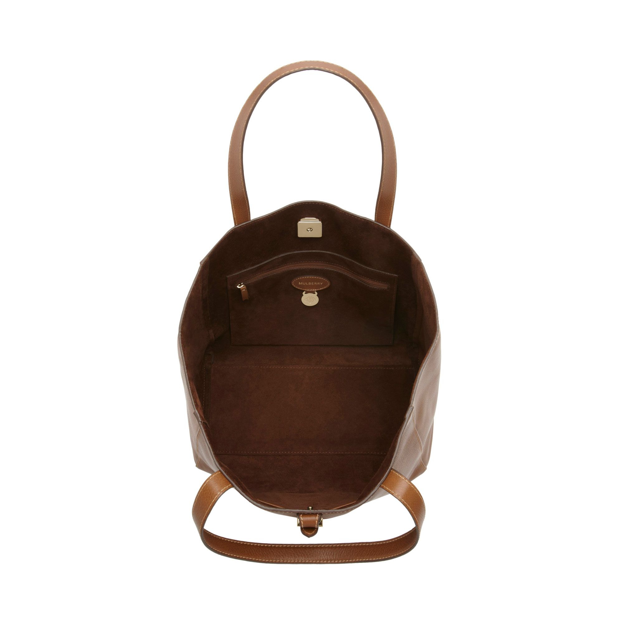 4afc176e10 ... inexpensive lyst mulberry tessie tote bag in brown 63ca3 a69c0