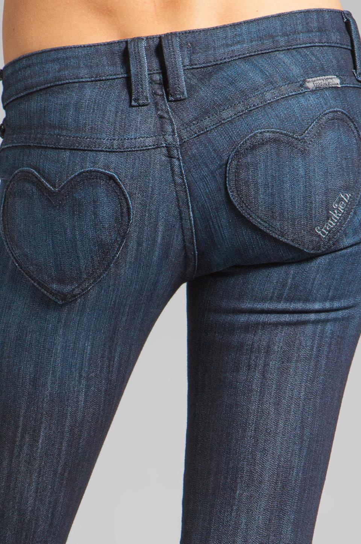 Frankie B Jeans Fb Mine Heart Pocket Skinny Jean In Blue