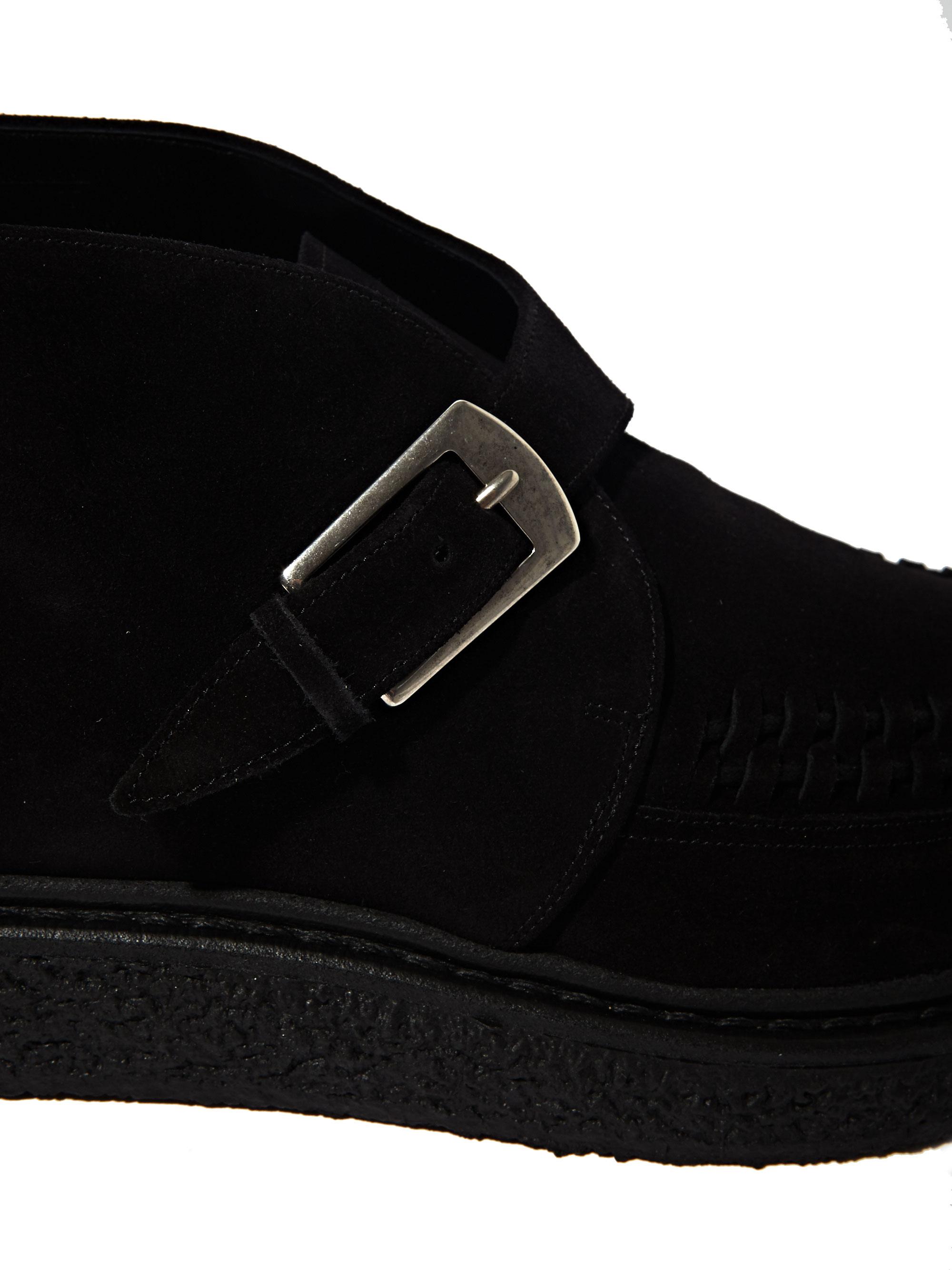 Black Strap Shoes Men