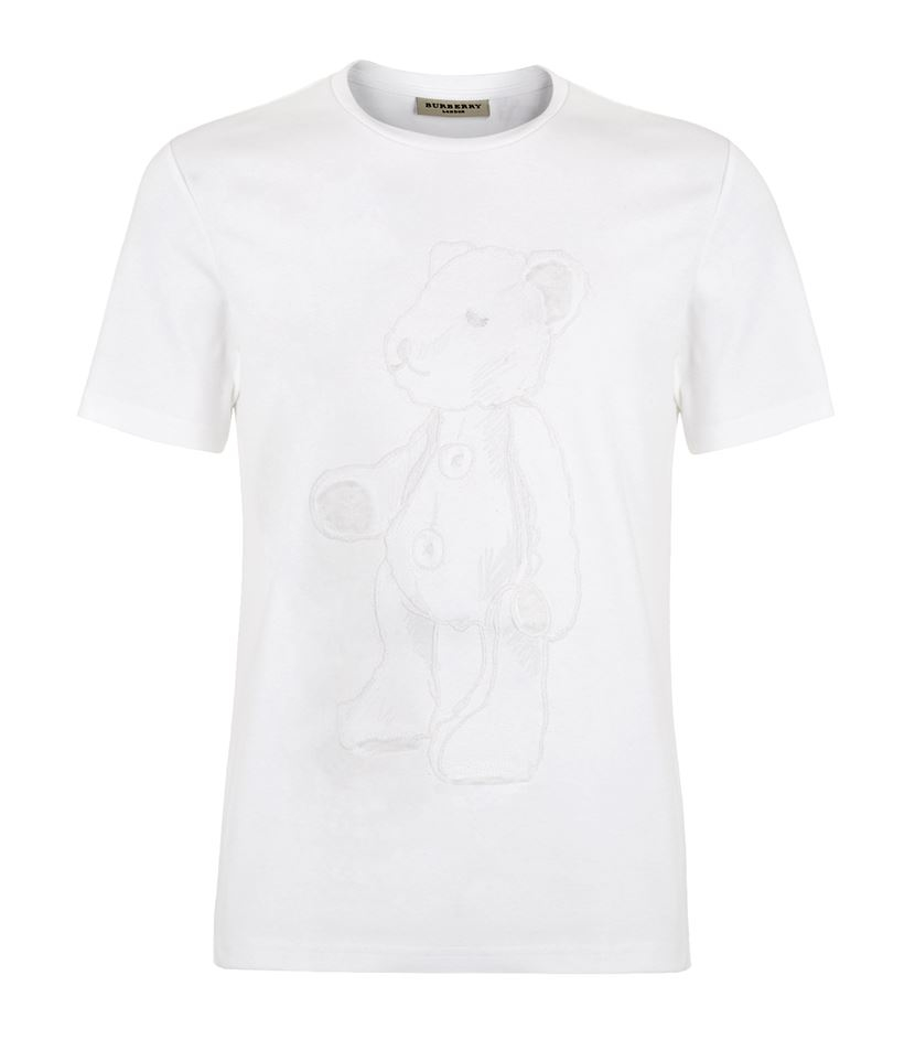 burberry london bearmore t shirt in white for men lyst
