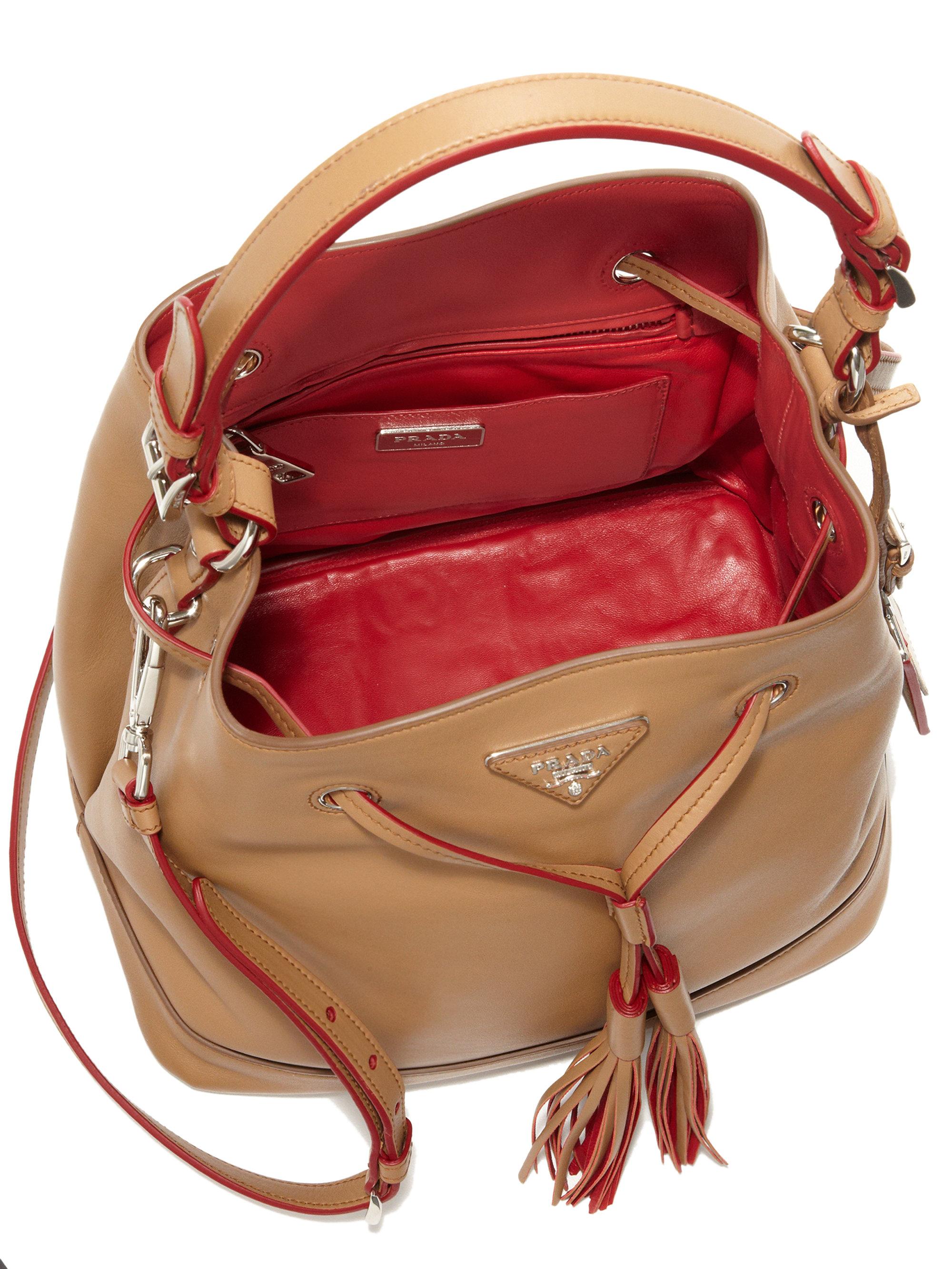 Bag At You Fashion Blog Hip E Bags White Backpack: Prada Large Bucket Bag In Brown