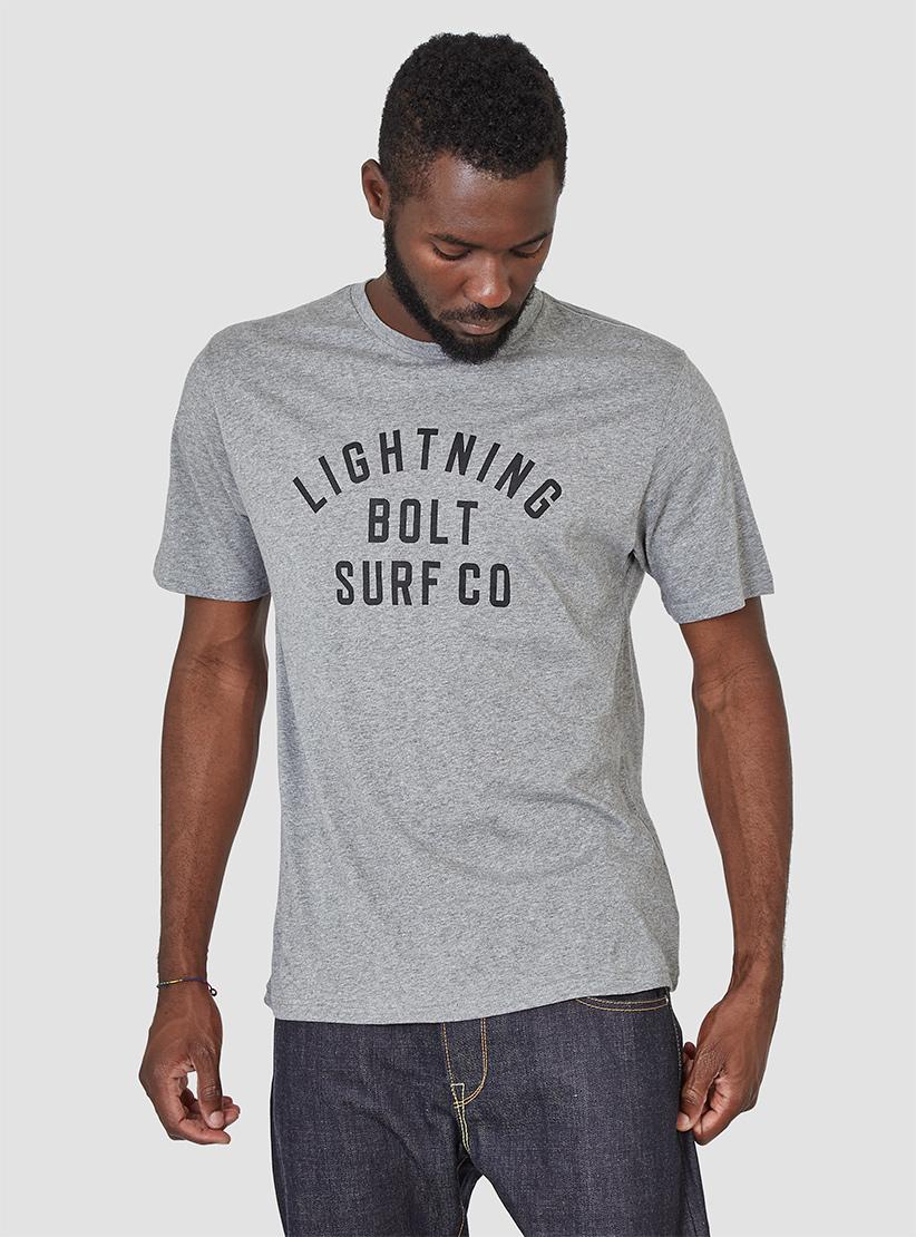 Lyst Lightning Bolt Surf Co T Shirt Grey In Gray For Men