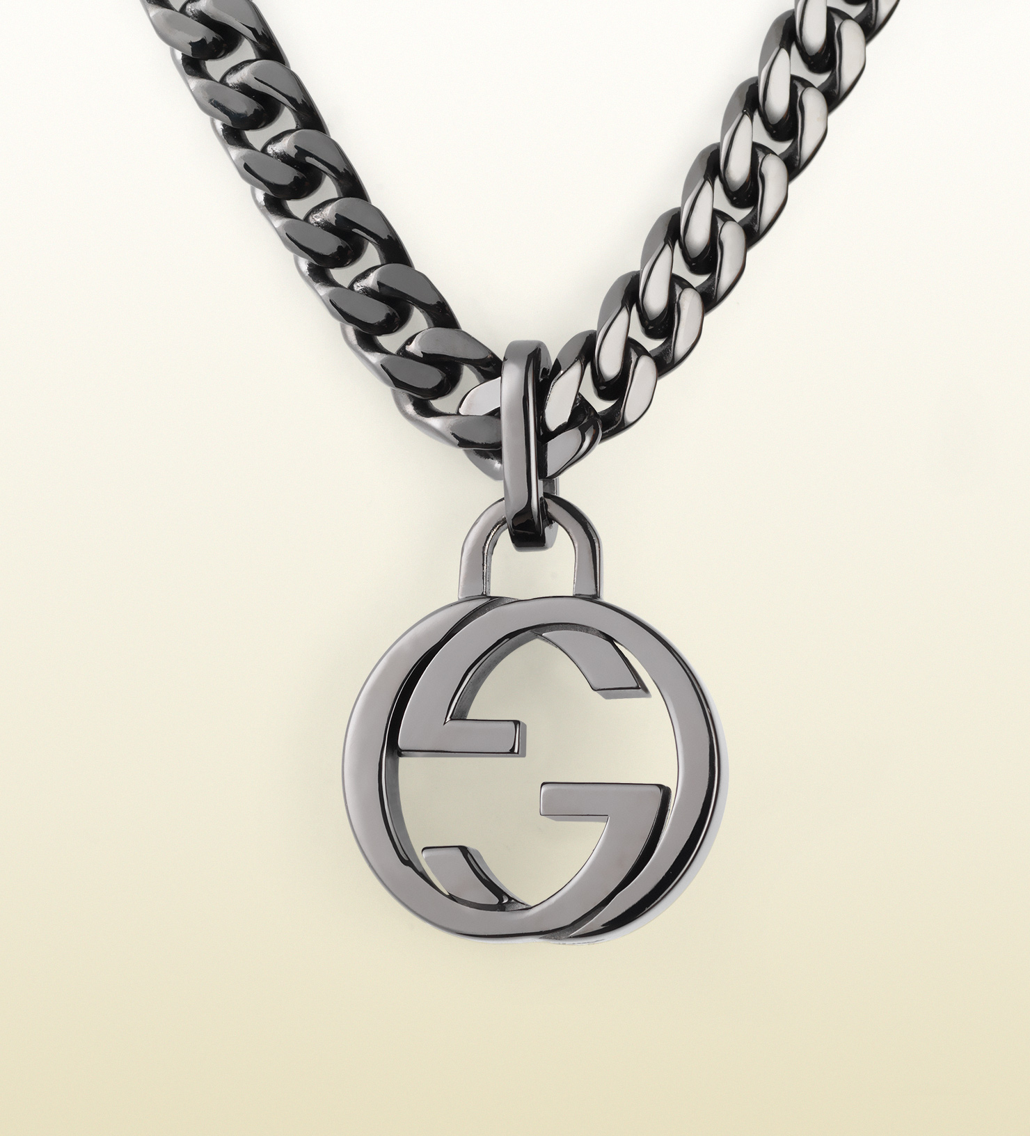 e1b7060ed Lyst Gucci Silver Necklace With Interlocking G Pendant In Metallic