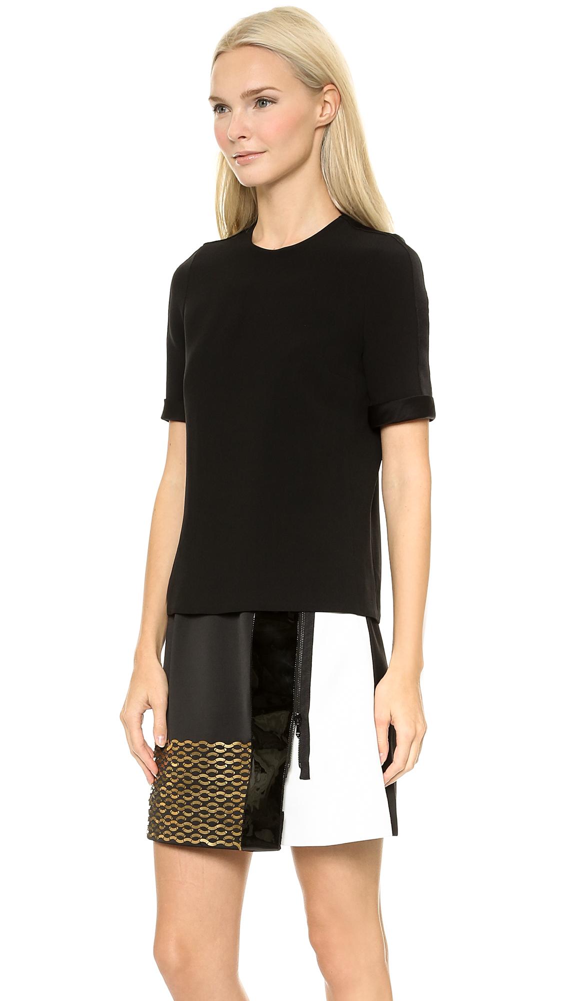 Lyst Victoria Victoria Beckham Patch Skirt Combo Dress