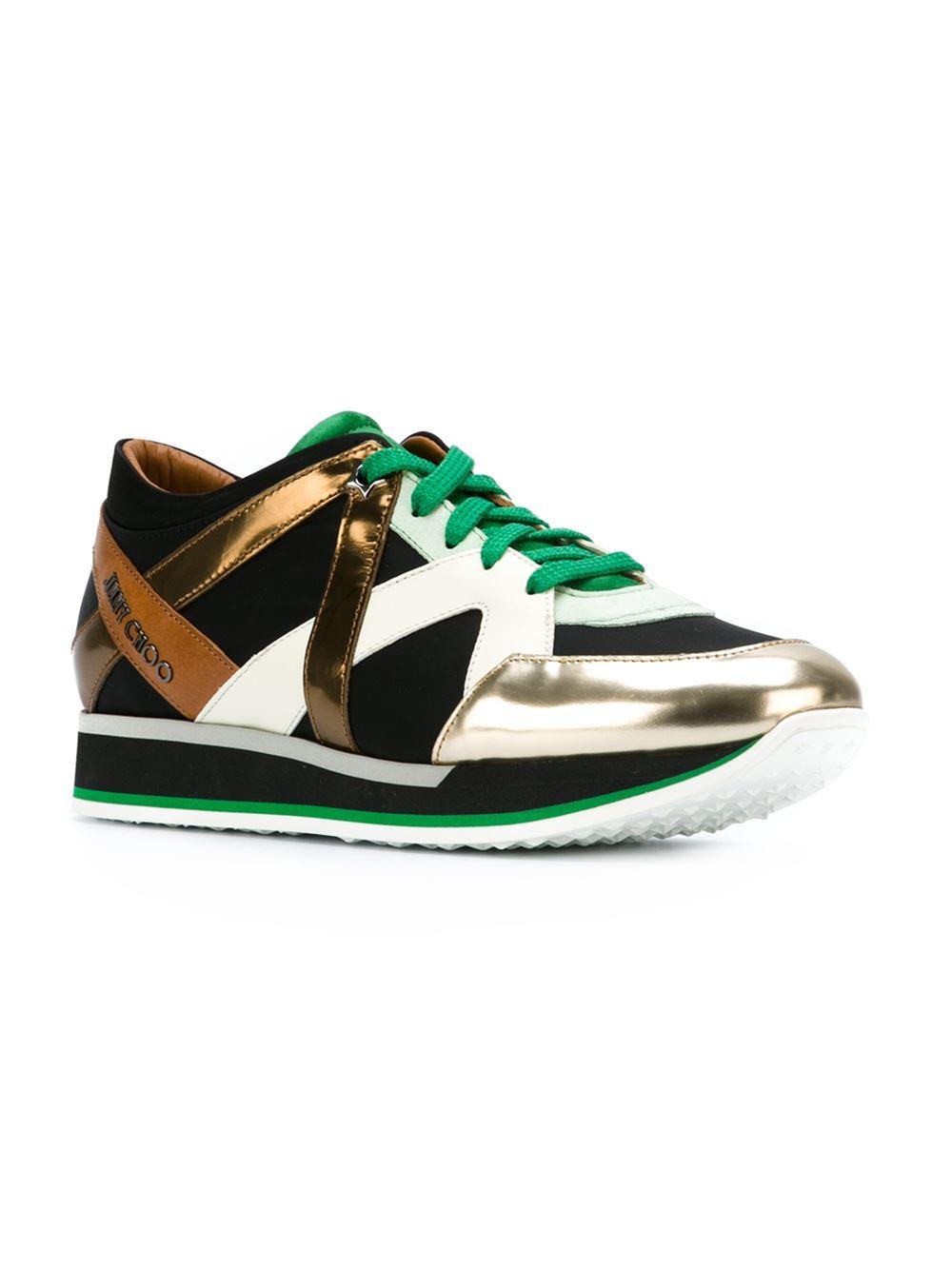 jimmy choo 39 london 39 sneakers in multicolor multicolour lyst. Black Bedroom Furniture Sets. Home Design Ideas