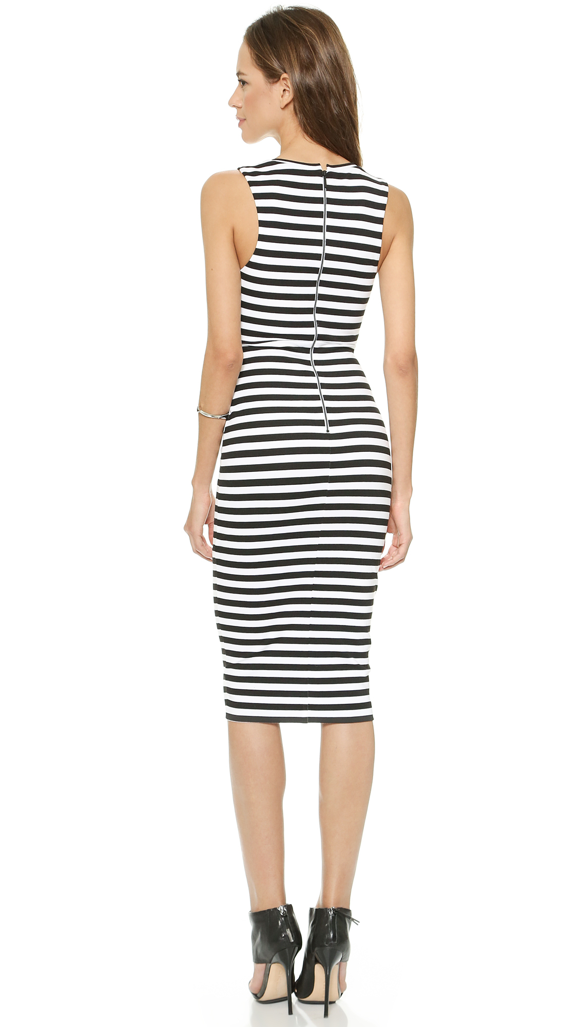 f5650f2e0652 Bec & Bridge Seven Wonders Deep V Dress - Stripe in Black - Lyst
