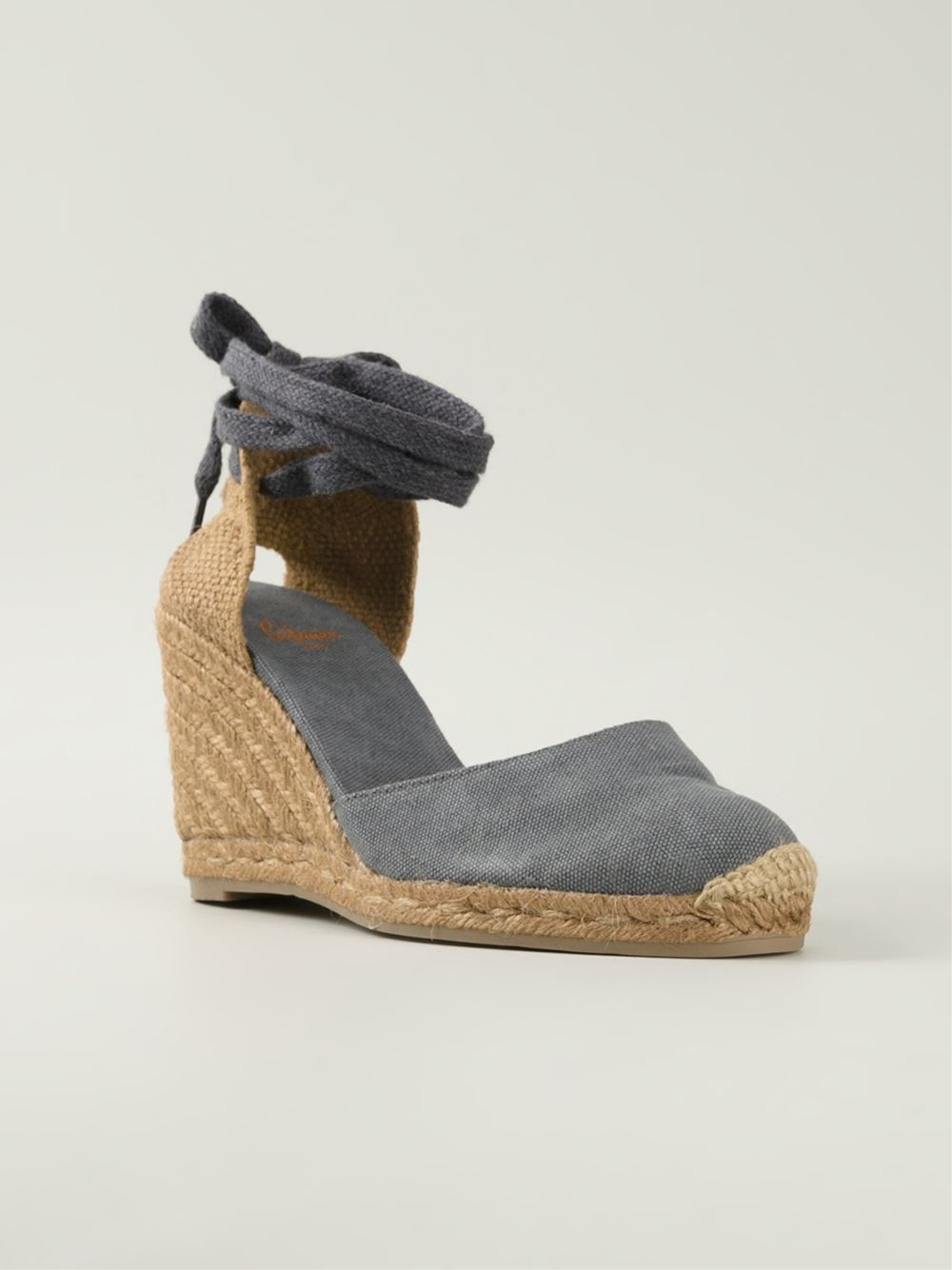 0a79547a276 Lyst - Castaner Wedge Espadrille Sandals in Gray