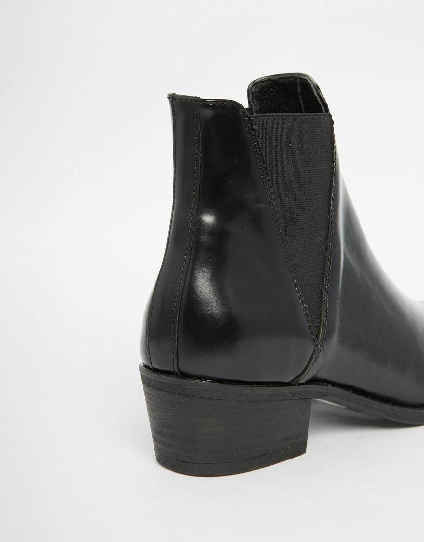 Steve madden Teve Madden Anyml Black Leather Chelsea Western Boots ...
