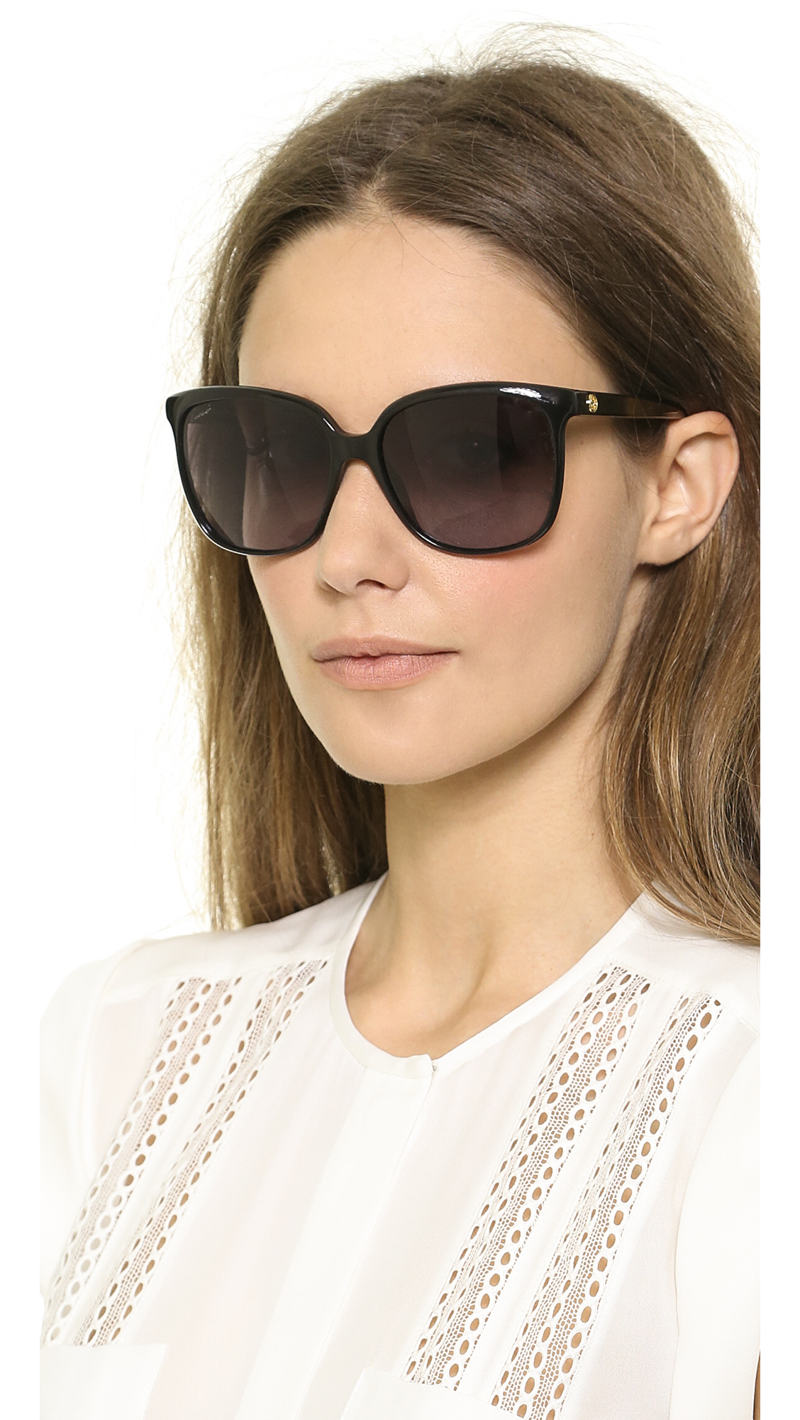 23fdddfa458 Lyst - Gucci Square Gradient Sunglasses - Violet Brown Gradient in Black