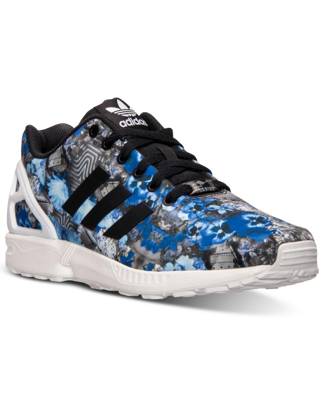 e473b79c0a41 ... discount lyst adidas originals mens zx flux floral print running  sneakers ed430 c79f8 ...