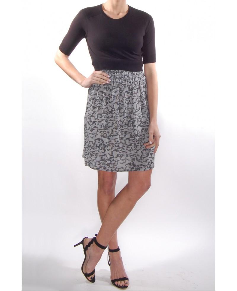 Lyst Carven Short Sleeve Sweater Dress In Black