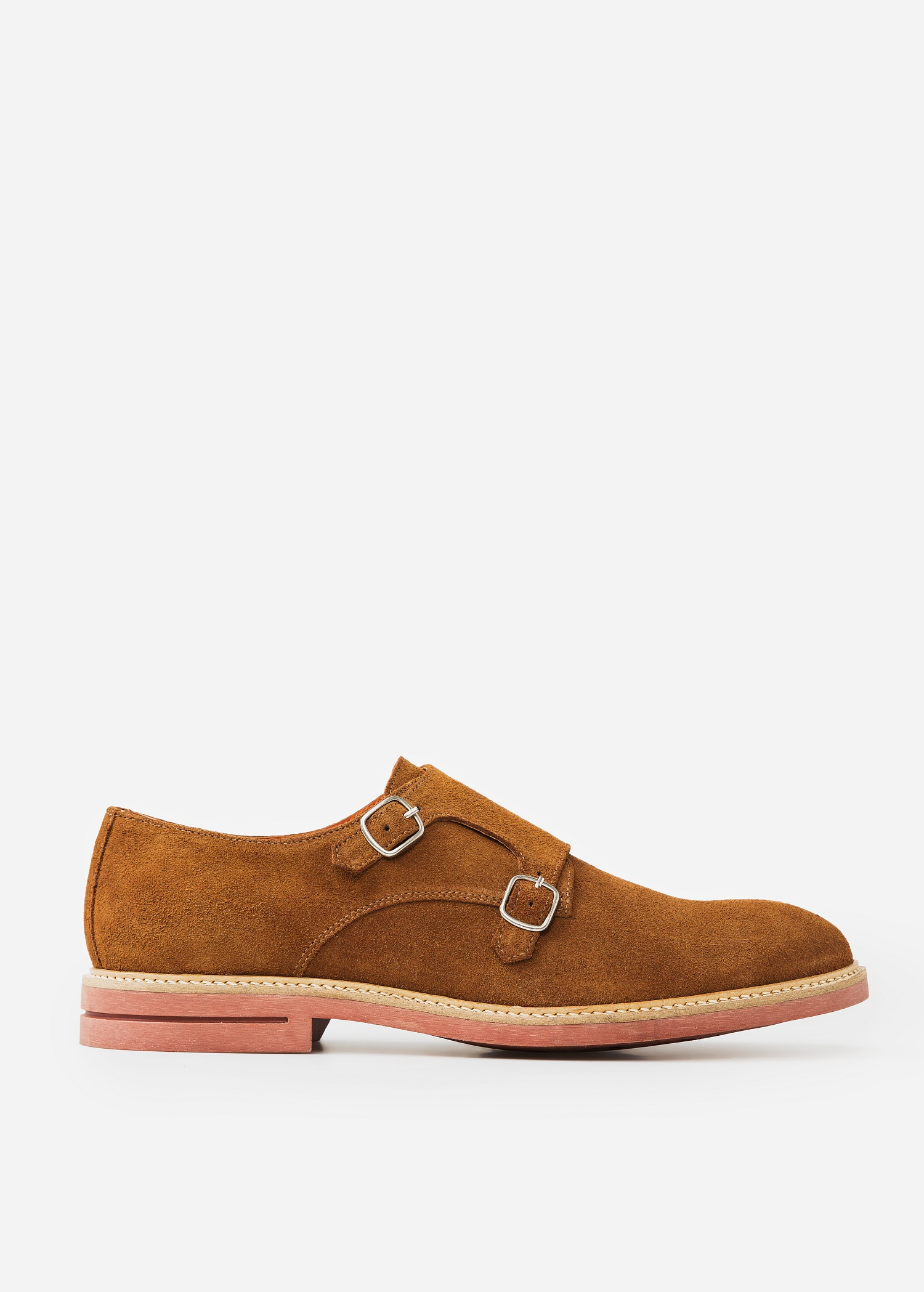 Lyst Mango Suede Monkstrap Shoes In Brown For Men