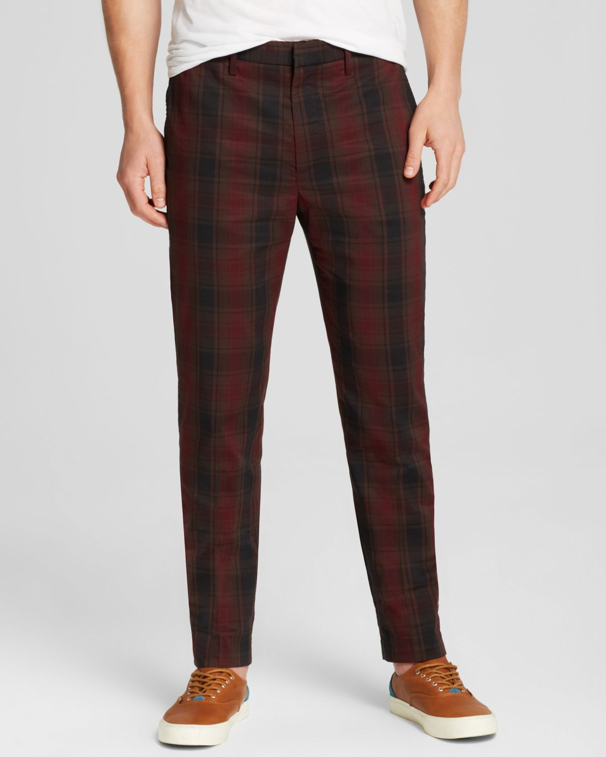 Slim-fit plaid pant with flat front featuring rigid waistband and off Mens Plaid 3 Pieces Suit Slim Fit Notch Lapel One Button Party Tux Jacket Vest Trousers Set. by Simcat. $ - $ $ 84 $ 89 99 Prime. FREE Shipping on eligible orders. Some sizes/colors are Prime eligible.