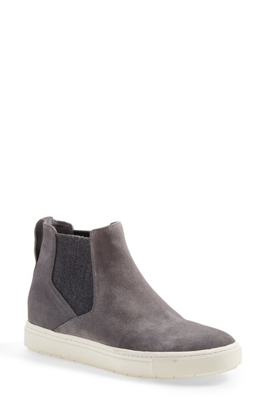 Lyst Vince Newlyn Suede Pull On High Top Sneakers In Gray