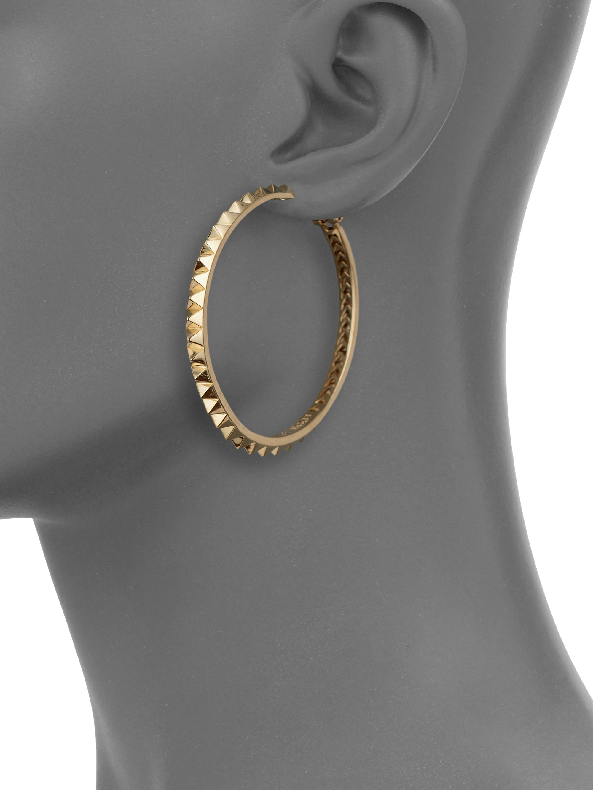 marant embellished earrings clothing normal in product isabel gold lyst gallery metallic stud hoop