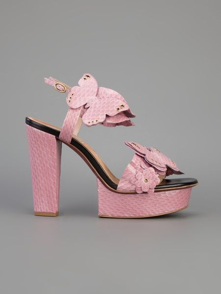 Nina Ricci Butterfly Platform Heeled Sandal In Pink Lyst