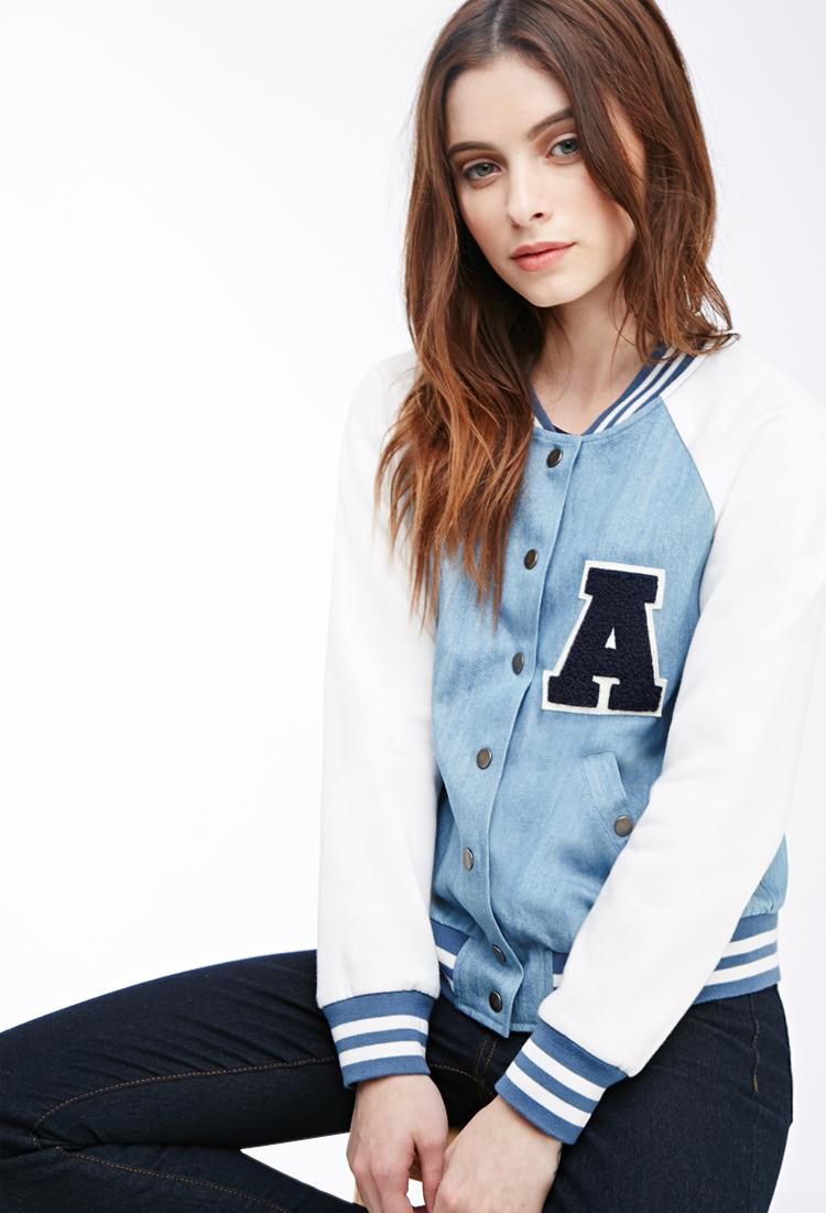 Womens letterman jacket forever 21