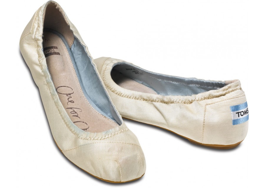Toms Ivory Ballet Flats In Natural Lyst